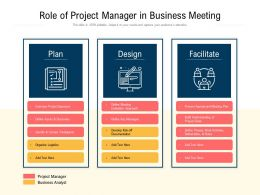 Role Of Project Manager In Business Meeting