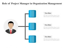 Role Of Project Manager In Organization Management
