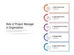 Role Of Project Manager In Organization