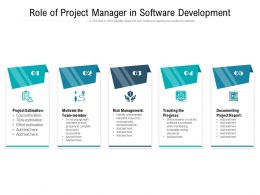 Role Of Project Manager In Software Development