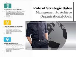 Role Of Strategic Sales Management To Achieve Organizational Goals