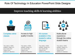 Role Of Technology In Education Powerpoint Slide Designs