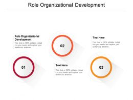 Role Organizational Development Ppt Powerpoint Presentation Summary Show Cpb