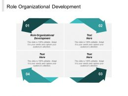 Role Organizational Development Ppt Slides Introduction Cpb