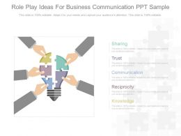 Role Play Ideas For Business Communication Ppt Sample
