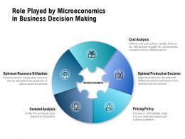 Role Played By Microeconomics In Business Decision Making