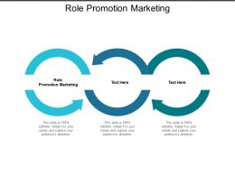 Role Promotion Marketing Ppt Powerpoint Presentation Icon Introduction Cpb