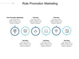 Role Promotion Marketing Ppt Powerpoint Presentation Pictures File Formats Cpb