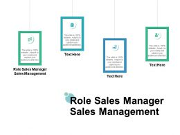 Role Sales Manager Sales Management Ppt Powerpoint Presentation Model Show Cpb