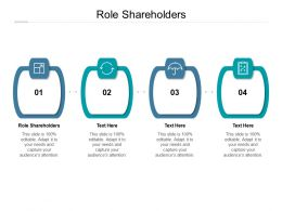 Role Shareholders Ppt Powerpoint Presentation Icon Example Introduction Cpb