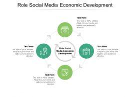 Role Social Media Economic Development Ppt Powerpoint Presentation Ideas Show Cpb