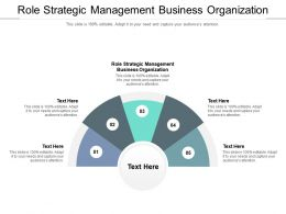 Role Strategic Management Business Organization Ppt Powerpoint Presentation Layouts Cpb