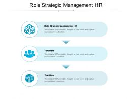 Role Strategic Management HR Ppt Powerpoint Presentation Sample Cpb