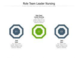 Role Team Leader Nursing Ppt Powerpoint Presentation Professional Designs Download Cpb