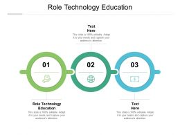 Role Technology Education Ppt Powerpoint Presentation Infographic Cpb