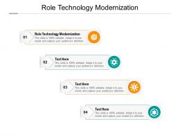 Role Technology Modernization Ppt Powerpoint Presentation Portfolio Rules Cpb