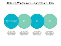 Role Top Management Organizational Ethics Ppt Powerpoint Presentation Slides Aids Cpb