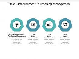 RoleE Procurement Purchasing Management Ppt Powerpoint Presentation Styles Objects Cpb