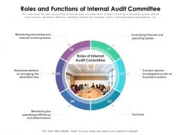 Roles And Functions Of Internal Audit Committee