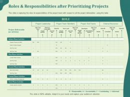 Roles And Responsibilities After Prioritizing Projects Support Ppt Powerpoint Graphic Images