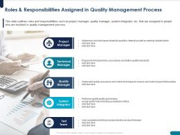 Roles And Responsibilities Assigned In Quality Management Process Prepare Ppt Powerpoint Presentation Pictures