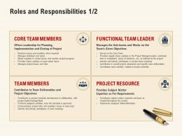 Roles And Responsibilities Functional Team Ppt Powerpoint Pictures