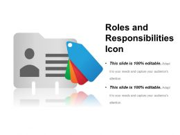 Roles And Responsibilities Icon Ppt Design Templates