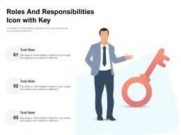 Roles And Responsibilities Icon With Key