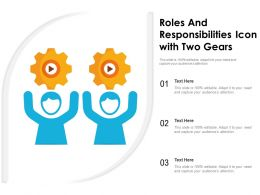 Roles And Responsibilities Icon With Two Gears