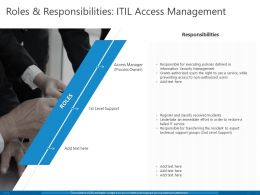 Roles And Responsibilities ITIL Access Management Ppt Powerpoint Presentation Pictures