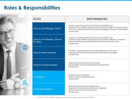 Roles And Responsibilities Manager Ppt Powerpoint Presentation Summary Files