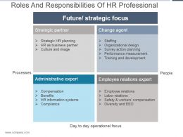 Roles And Responsibilities Of Hr Professional Ppt Slide