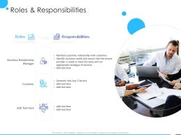Roles And Responsibilities Ppt Powerpoint Presentation File Formats