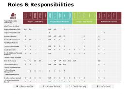Roles And Responsibilities Ppt Powerpoint Presentation Gallery Slideshow