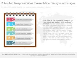 Roles And Responsibilities Presentation Background Images