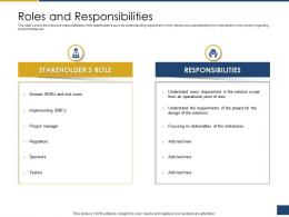 Roles And Responsibilities Process Of Requirements Management Ppt Pictures