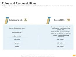 Roles And Responsibilities Requirement Management Planning Ppt Ideas