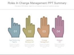 Roles In Change Management Ppt Summary