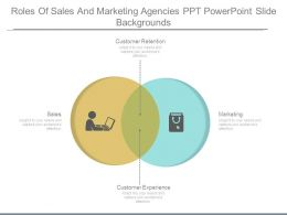 Roles Of Sales And Marketing Agencies Ppt Powerpoint Slide Backgrounds