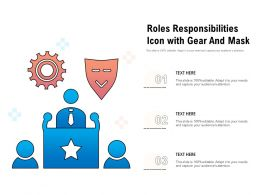 Roles Responsibilities Icon With Gear And Mask