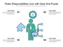 Roles Responsibilities Icon With Gear And Puzzle