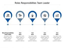 Roles Responsibilities Team Leader Ppt Powerpoint Presentation Ideas Examples Cpb