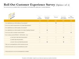 Roll Out Customer Experience Survey Products Ppt Powerpoint Presentation Styles Images