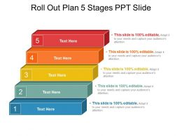 Roll Out Plan 5 Stages Ppt Slide