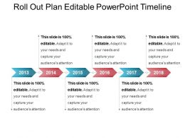 Roll Out Plan Editable Powerpoint Timeline
