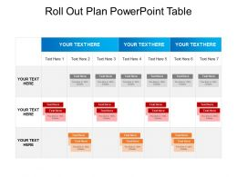 Roll Out Plan Powerpoint Table
