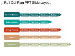 Roll Out Plan Ppt Slide Layout
