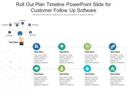 Roll Out Plan Timeline Powerpoint Slide For Customer Follow Up Software Infographic Template