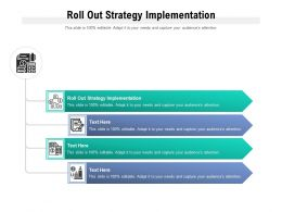 Roll Out Strategy Implementation Ppt Powerpoint Presentation File Topics