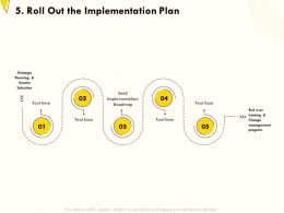 Roll Out The Implementation Plan Selection Program Ppt Powerpoint Presentation Styles Deck